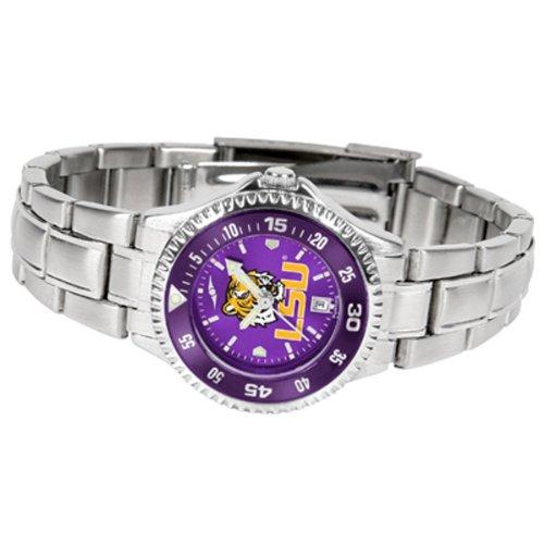 State Sport Tigers Steel Watch (Louisiana State LSU Tigers NCAA Womens Steel Anochrome Watch)