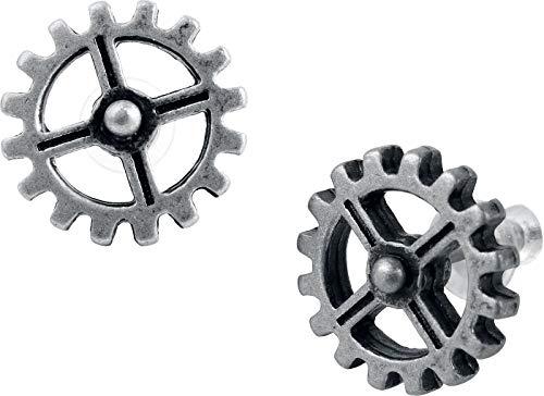 Steampunk Cogwheel Industrilobe Earrings By Alchemy - Stud Gear