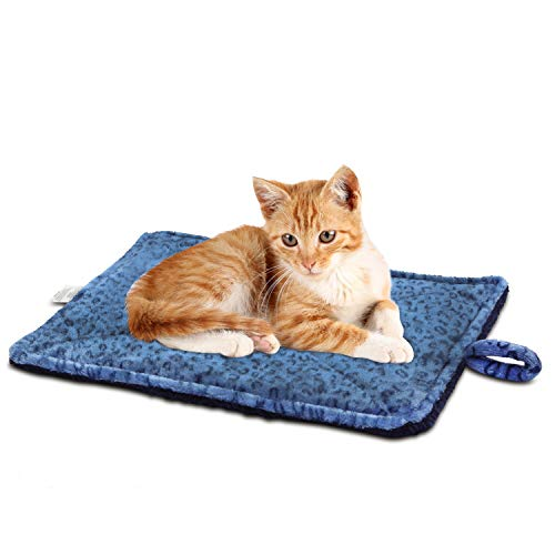 MARUNDA Thermal Cat Mat, Cozy Self Heating Cat Pad, Reversible Washable Pad(22''x 15'')