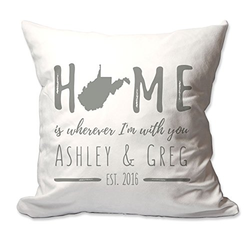 Personalized West Virginia Home is Wherever I'm With You Throw (Virginia Throw)