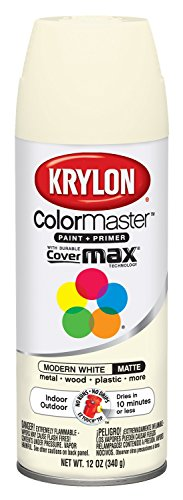 Krylon Colormaster Indoor/Outdoor Aerosol Paint 12 oz Modern White by Krylonの商品画像