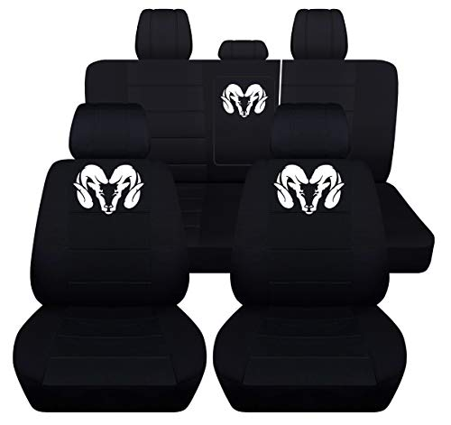 - Fits 2012 to 2018 Dodge Ram Front and Rear Ram Seat Covers 22 Color Options (40-60 Rear with Armest, Black)