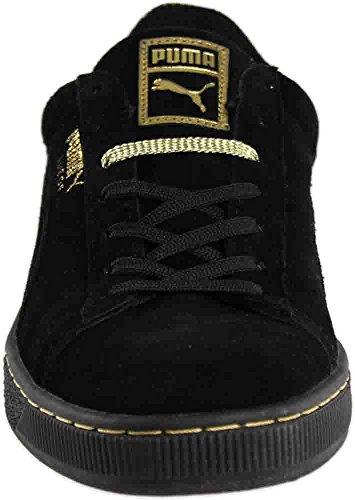 Puma Heren Suède Metallic Fade Fashion Sneakers Zwart / Metallic Goud