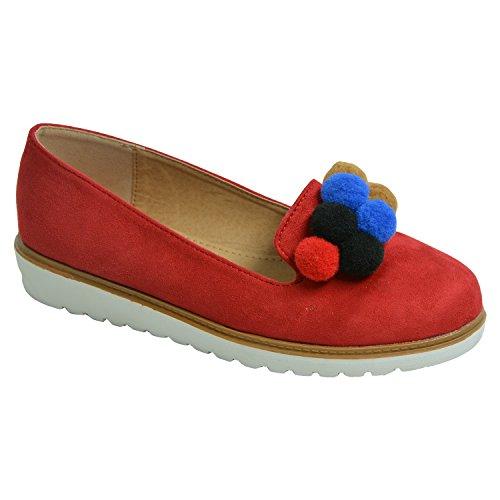 Fashion con a Sandalias mujer Cucu Red cu qUT8EwWqd