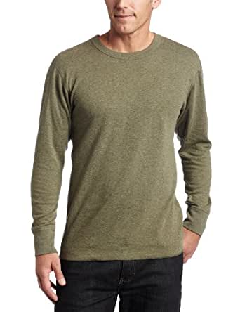 Duofold Men's Midweight Long Sleeve Crew,Olive Heather,Small