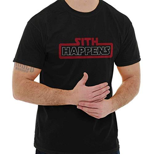 Brisco Brands Sith Happens Vader Death Star Nerdy Geeky Tee T-Shirt by Brisco Brands
