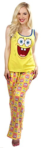 SpongeBob SquarePants and Patrick Reversible Tank Sleep Set (Juniors Medium) -