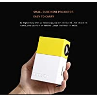 HOMEKE Mini Portable LCD Pocket Projector 1080P Full HD Home Cinema Theater with USB/SD/AV/HDMI Input Great Gift for children for camping and party