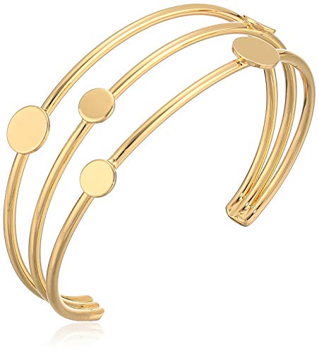 BCBG Generation Gold Mixed Moon and Star Multi Row Cuff Bracelet, One Size