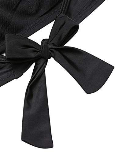 Bademode Bikini Damen, Sondereu Bikini Set Push Up Solid Triangl Badebekleidung Schwimmanzug Mit Neckholder