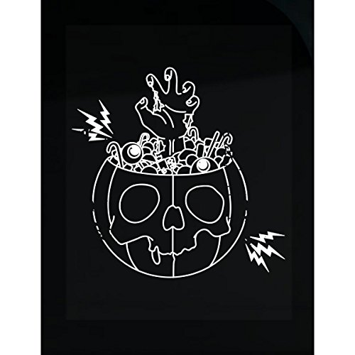 Prints Express Pumpkin Design with Zombie Hand Coming Out - Sticker