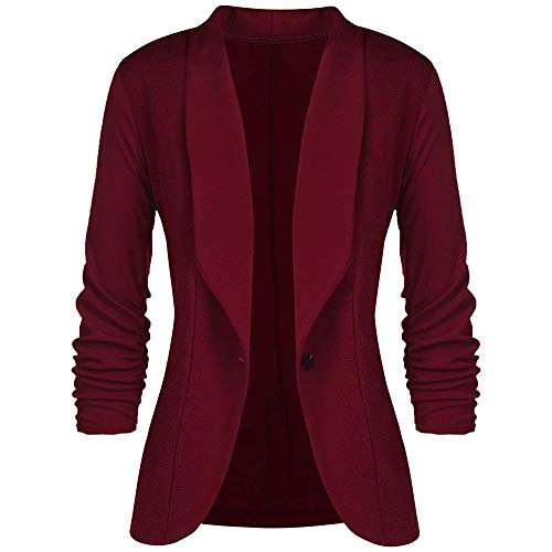 Blazer for Women, HULKAY Upgrade Fashion Long Sleeve Blazer Jacket Autumn Winter Elegant Jacket Suit Slim Outwear(Red,S) from HULKAY