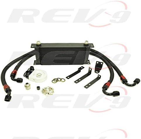 Rev9 OCK-1090 Engine Oil Cooler Kit 19 Row Core compatible for Honda S2000 2000-09 AP1 AP2