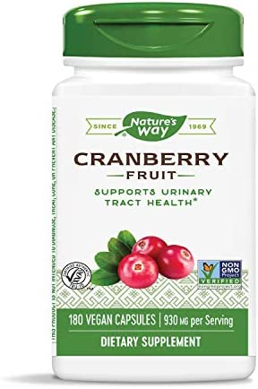 Nature s Way Premium Herbal Cranberry Fruit, 930 mg per serving, 180 Capsules