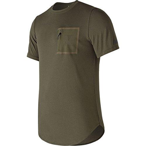 New Balance  Men's 247 Sport Pocket Tee Military Dark Triumph Green (Military New T-shirt)