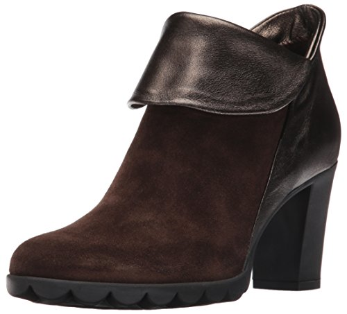 Flexx Women's Dipartment Ankle Bootie - Ebony/Bronzo Sued...