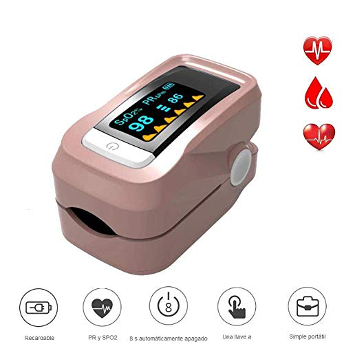 WanzhuanK Finger Pulse Monitor,All Portable and Heart Rate Monitor Analysis and Measurement of Oxygen Saturation in Blood SpO2,Gold