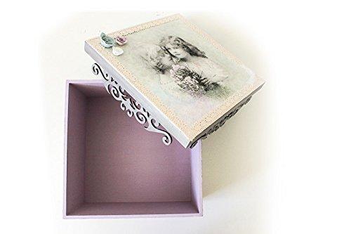 Caja de madera, joyero, caja para boda, bautizo, comunión o regalo.