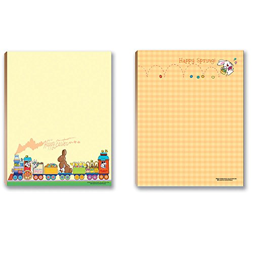 Easter Notepads - 2 Funny Happy Easter - 5.5 x 4.25 Inches - 50 Sheets Per Pad