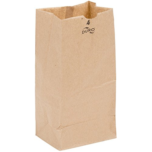 Grocery/Lunch Bag, Kraft Paper, 4 lb Capacity, (100 Count)