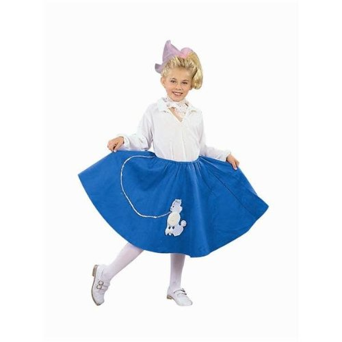 Red 50s Poodle Skirt Costumes (Red Poodle Skirt - Child Medium)