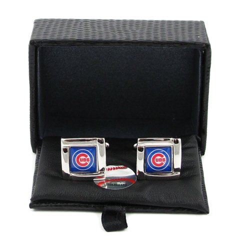 MLB Chicago Cubs Square Cuff - Cufflinks Cubs Chicago Silver