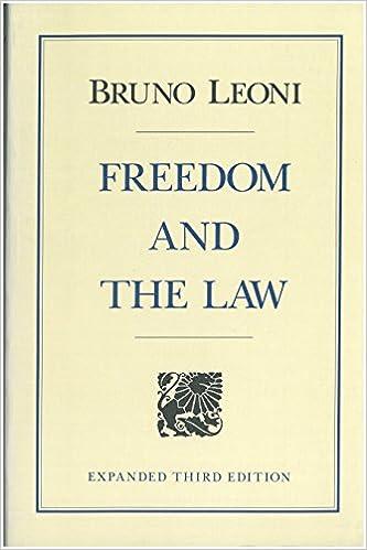Freedom and the Law: Bruno Leoni: 9780865970977: Amazon com