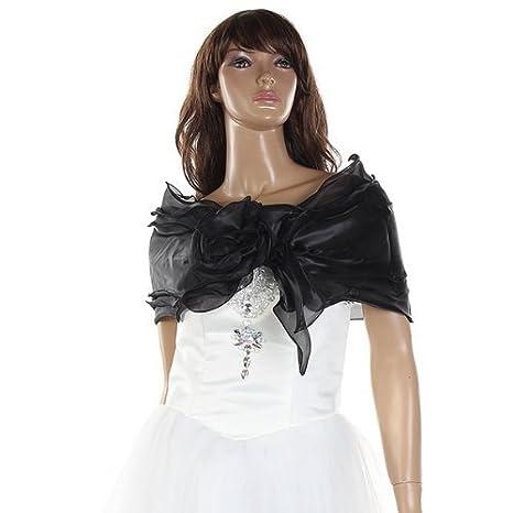 Gleader Chal Estola Bolero Organza Vestido Boda Fiesta Encaje Negro para Mujer: Amazon.es: Deportes y aire libre