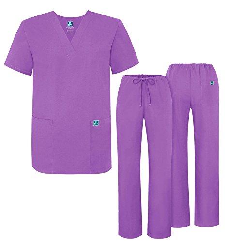 Adar Universal Medical Scrubs Set Medical Uniforms - Unisex Fit - 701 - LAV ()