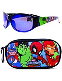 KIDS SUNGLASSES – BOYS 100% UV WITH SOFT POUCH, SPIDERMAN, PAW PATROL, AVENGERS