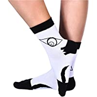 Qualilty Printed Lovely Eyes 5 Toe Socks Boys Men Cotton Nature Winter Autumn Apparel