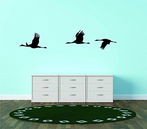 - Top Selling Decals - Prices Reduced : Flying Ducks - Silhouette - Picture Art - Peel & Stick Vinyl Wall Sticker Size : 8 Inches X 40 Inches - 22 Colors Available