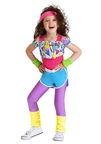 Madonna Halloween Costumes Material Girl (Toddler Girl's Work It Out 80's Costume)