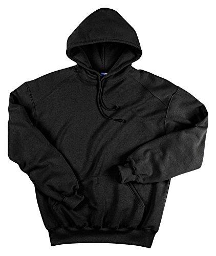 (Badger Bd1254 Adult Hooded Sweatshirt, Black, Large )