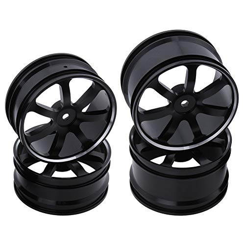 (Hobbypark (4-Pack) Front & Rear Aluminum Wheel Rims 12mm Hex Drive Hub for Redcat Shockwave,Tornado Epx/epx PRO,Tornado S30 1/10 Scale Off Road Buggy RC Car Parts)
