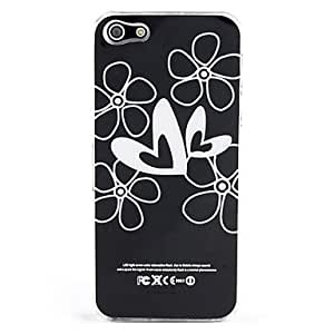 JJEHeart Flower and Caller Flash Hard Case for iPhone 5