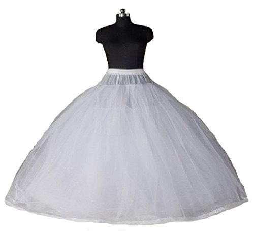 Dearta Women's 8 Layers Tulle Ball Gowns Dresses Petticoats with No ()