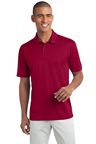 Port Authority Men's Tall Silk Touch Performance Polo LT Red (Port Cranberry)