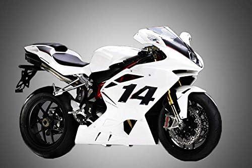 13002 Numero Gara Adesivo per Moto 2 4R Quattroerre.it Nero 10 x 13 cm