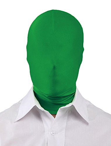Seeksmile Unisex Lycra Spandex Full Cover Zentai Hood Mask (Adult Size, Forest Green) -