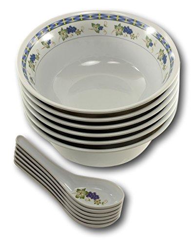 Asian Soup Spoons Bowls Melamine