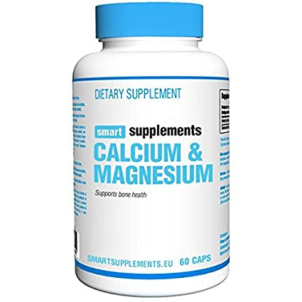 Smart Supplements Calcio Magnesio Suplemento - 60 Cápsulas