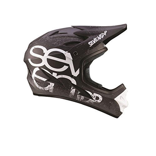 7iDP M1 Kids Full Face Mountain Bike BMX Bicycle Helmet Gradient Matt Black/White YL (50-52 CM)