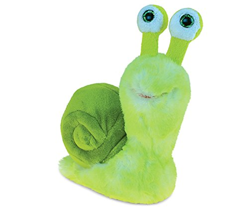 Puzzled Green Snail Super-Soft Stuffed Plush Cuddly Animal Toy - Insect Theme - 5.5 INCH - Unique huggable loveable New friend Gift - Item #5334