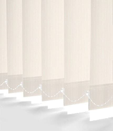"""Made to Measure Plain Replacement Vertical Blind Slats 3.5/"""" 89mm Ready to Hang"""