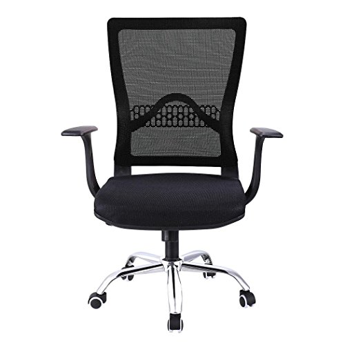 Pesters Mesh Ergonomic Computer Desk Office Chair with Adjustable Headrest, Backrest, Armrest, Seat, Height, Mid-Back Mesh 360 Degrees Swiveling Chair (US STOCK)