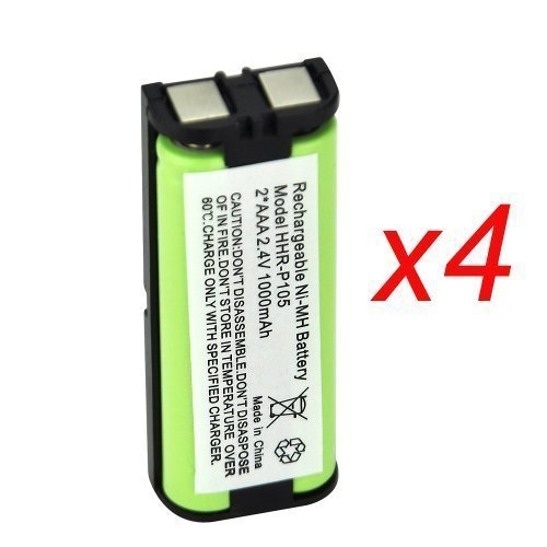 4 EBL Rechargeable Ni-MH Cordless Phone Batteries for Panaso