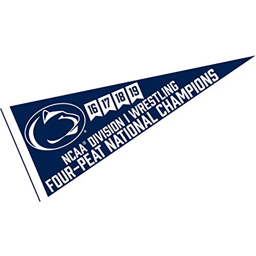 College Flags and Banners Co. Penn State Nittany Lions Four-Peat Wrestling National Champions Pennant