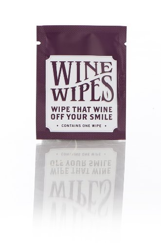 (Wine Wipes Party Favors pack of 50 individual wipes)