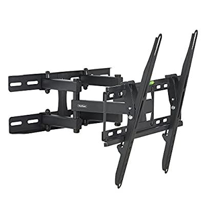 "VonHaus Double Arm Articulating Cantilever TV Bracket Wall Mount with Tilt- for 23""-56"" LCD LED Plasma Flat Panels - Heavy Gage Reinforced Steel - Strong 100lbs Weight Capacity"